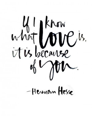 8x10 Herman Hesse Quote Print.