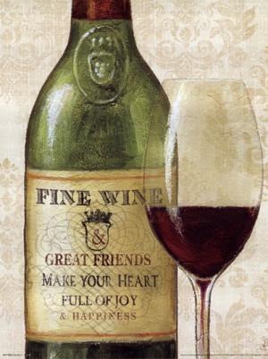 Wine Quotes I poster Jefferson, Thomas (6)