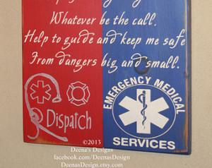 Dispatcher/EMT Hybrid Wall Art, Dispatch/EMS Decor, Distressed Decor ...