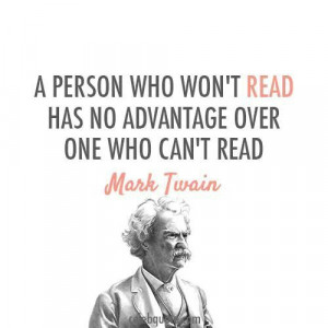 Mark Twain on reading
