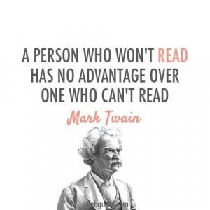 Mark Twain on reading