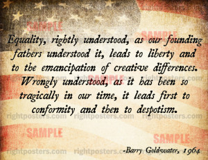 Barry Goldwater Liberty Poster