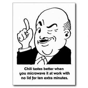 Cooking Chili - Funny Recipe Humor Quote Postcard