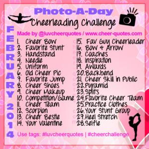 February Cheerleading Challenge!!