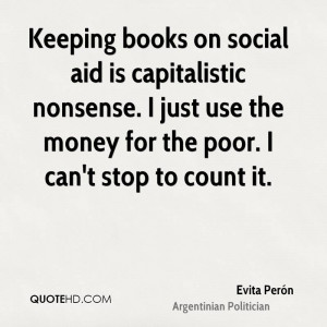 Keeping books on social aid is capitalistic nonsense. I just use the ...