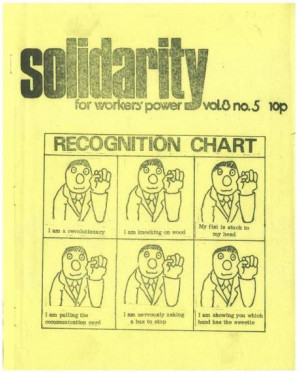 ... 1975 mostly about the role of the unions and the union bureaucracy