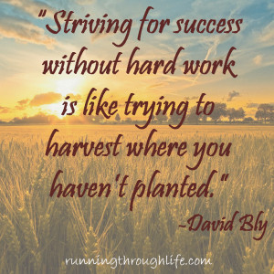 Striving for success without hard work is like trying to harvest ...