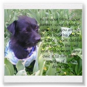Loyal Dog Quote.