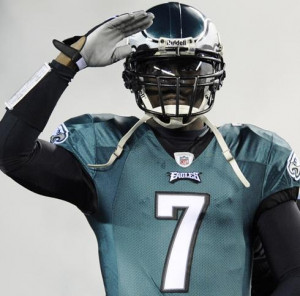 Philadelphia Eagles quarterback Michael Vick started and finished only ...