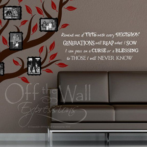 Generations Family Quote vinyl wall words by OffTheWallExpression, $25 ...