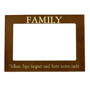 Brown/Cream Family Quote Picture Frame Magnet