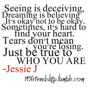 Jessie J Who You Are Quotes