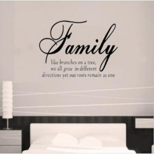 Family like branches quote removable vinyl wall art