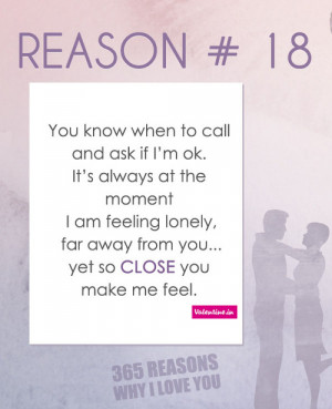 valentineindia:Reasons why I love you #18: You know when to call and ...