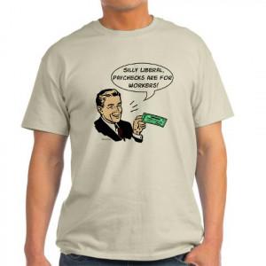 Funny Anti Liberal Welfare Check T-Shirt