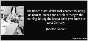 The United States dollar took another pounding on German, French and ...