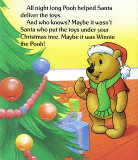 Winnie The Pooh & Santa Too - A Starburst promotional booklet -undated