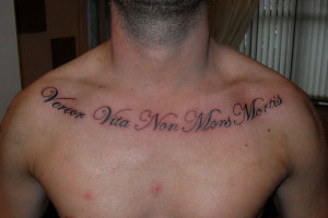 Christian Chest Tattoo Quote Women