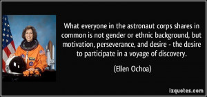 astronaut corps shares in common is not gender or ethnic background ...