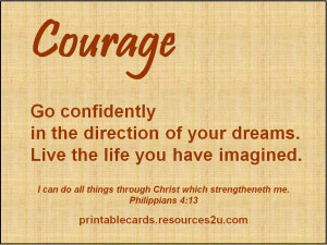 Christian Quotes About Courage