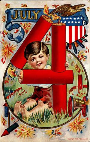 Vintage 4th of July postcards