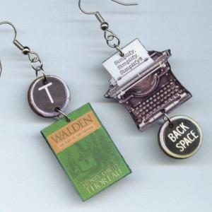 Walden Earrings Henry David Thoreau quote by DesignsByAnnette. $16.00 ...