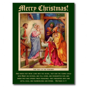 Wise Men Christmas Card, with Bible Verse Postcard