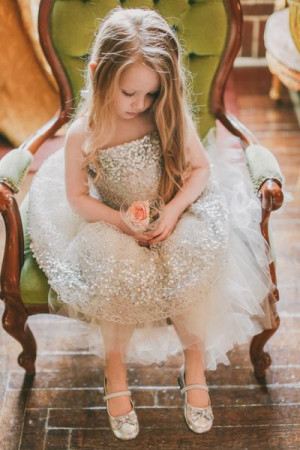 Constellation Flower Girl Dress- Silver by DolorisPetunia