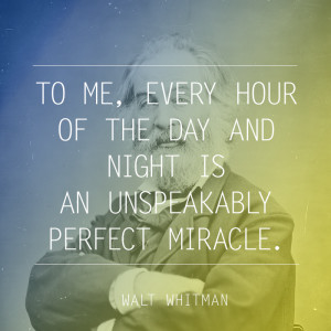 the day and night is an unspeakably perfect miracle quot Walt Whitman