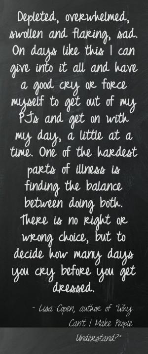 Chronic Illness Quotes Life with fibromyalgia/ chronic illness ...