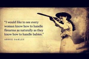 Annie Oakley on Guns