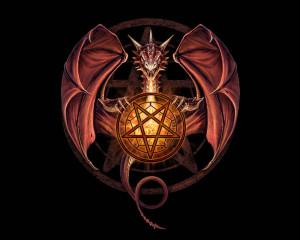 Fantasy - Dragon Wiccan Dragon Devil Satan Devil Devil Satan Wallpaper
