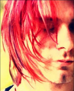 da luh, kurt cobain, pink, pink hair, red, red hair