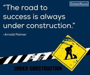 Funny Quotes Road Success Always Under Construction