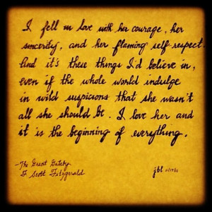 The Great Gatsby quote