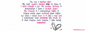 Cute Quote Facebook Timeline profile cover for girls.