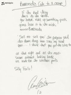 ... Ann Wilson, Nancy Wilson, Heart, Barracuda, Lyrics, Quotes, Art