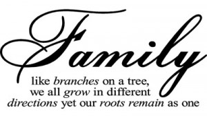 Family Like Branches by Vinyl Lettering Wall Sayings