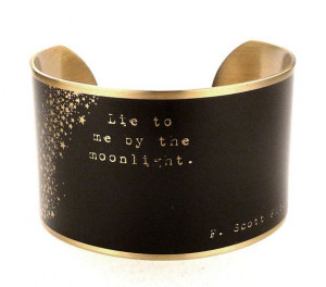 Fitzgerald Quote Cuff Bracelet, Literary Jewelry, Classic Literature ...