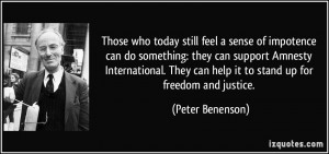 ... International. They can help it to stand up for freedom and justice