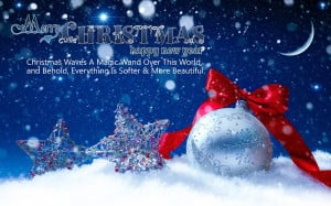 Merry Xmas Card and Quotes Happy Holidays Wishes New Year Greetings HD ...
