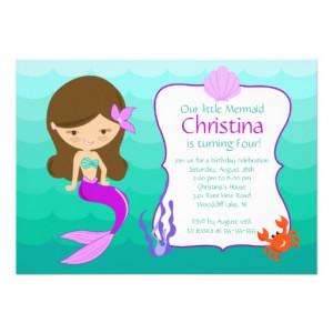 Mermaid Invitations, 400+ Mermaid Announcements & Invites