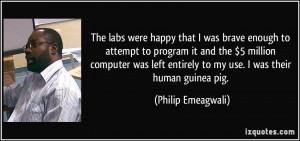 The labs were happy that I was brave enough to attempt to program it ...