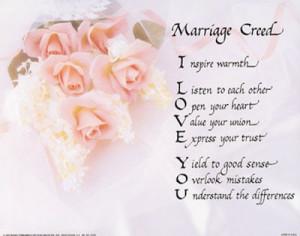 Buy Marriage Creed at Art.com
