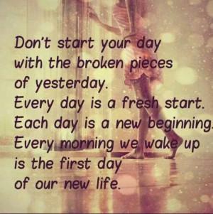 Start a new day
