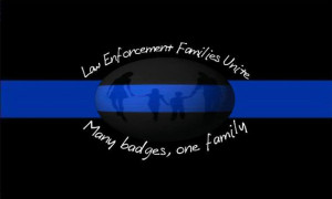 Law Enforcement Families Unite Signature Sticker Car Decal, Thin Blue ...