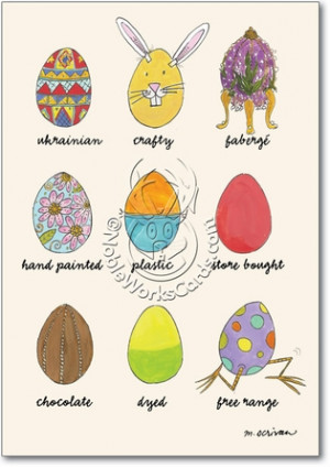 Egg Types Unique Inappropriate Humor Easter Card Nobleworks