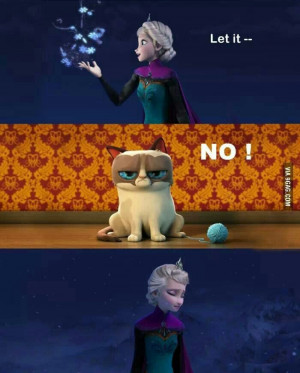 Let it go. Funny.