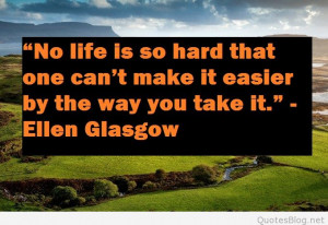 No life is so hard quote