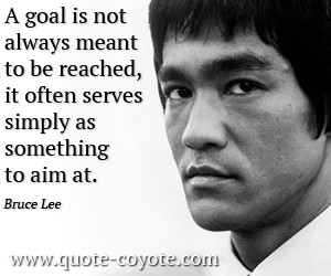 quotes - A goal is not always meant to be reached, it often serves ...